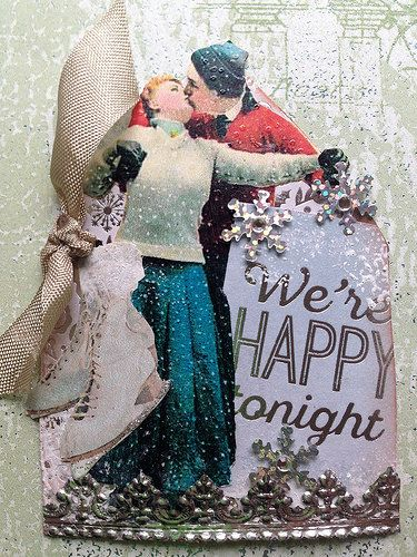 Vintage Ice Skater Gothic Arch ATC | by Donetta's Beaded Treasures