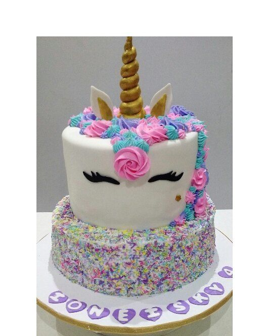 A Unicorn Cake Done From Our Talented Cakes Delivery Birthday For Teens 12th