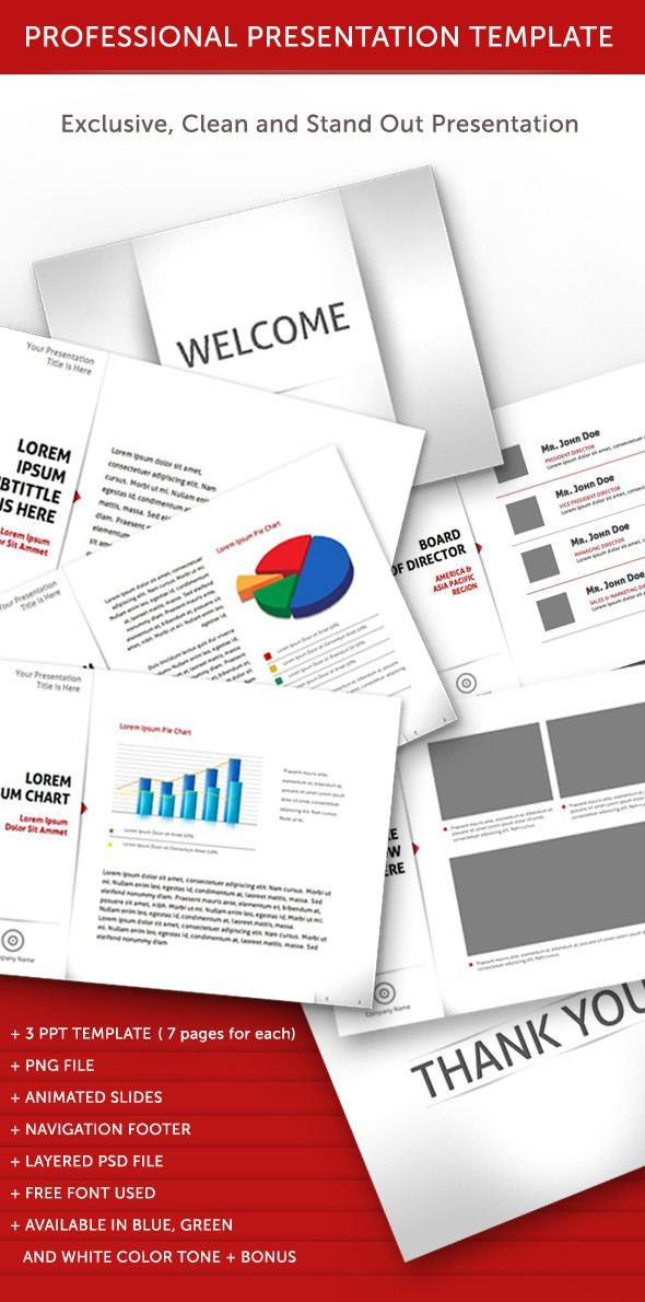 Professional Animated Power Point Template  Power Point Templates