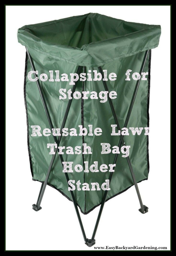 Leaf Lawn Trash Bag Holder Stand With