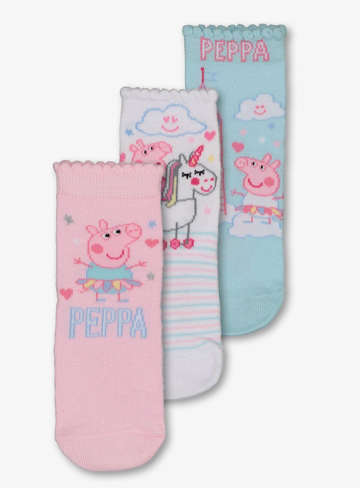 Peppa Pig Childrens 3Pk Socks By BestTrend