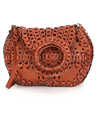 dedb8c76945 Patricia Nash Leather Chain Link Collection Pisticci Shoulder Bag  Dillards