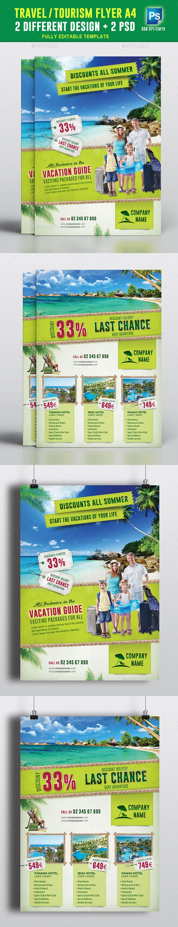 Travel Tourism Flyer Vol 01 Tourism Flyer Template And Template