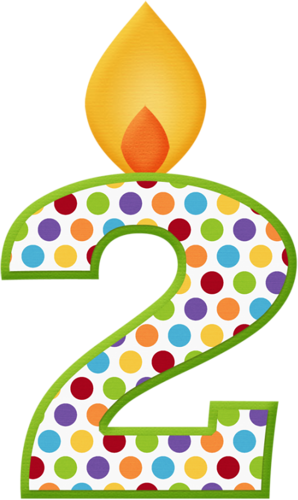 Aw Circus Candle 2 Png In 2020 Happy Birthday Clip Art Birthday Numbers Art Birthday