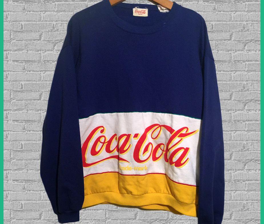 c779fab9 Vintage Coca-Cola Crewneck Sweatshirt … | Vintage Branded Clothes in ...