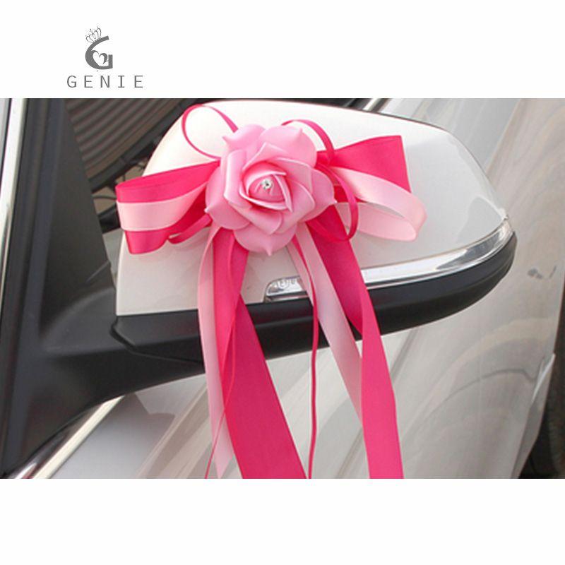 Genie Wedding Car Decoration Artificial Flower Foam Rose 10 Colors