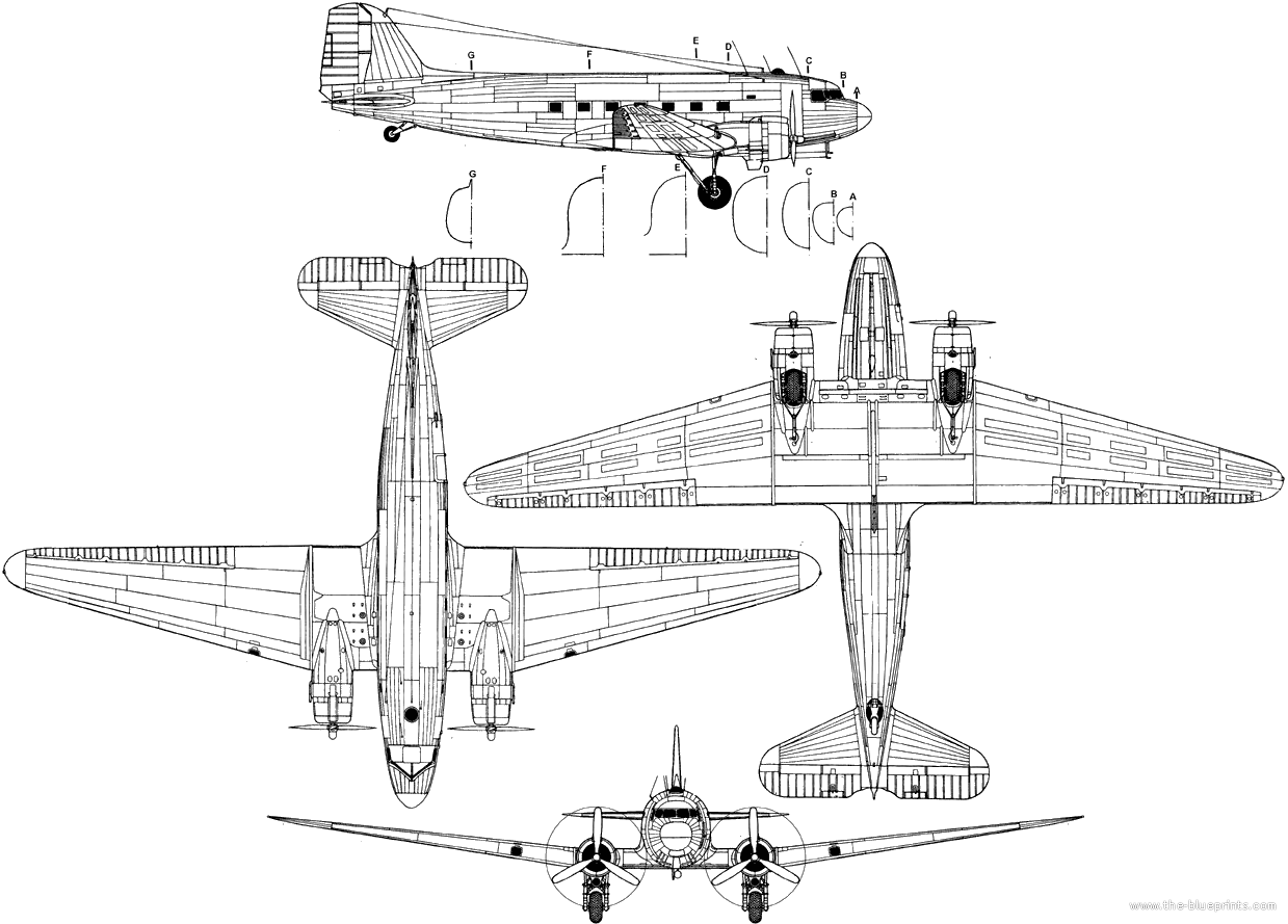 Blueprints Of A Dc 3 Dakota