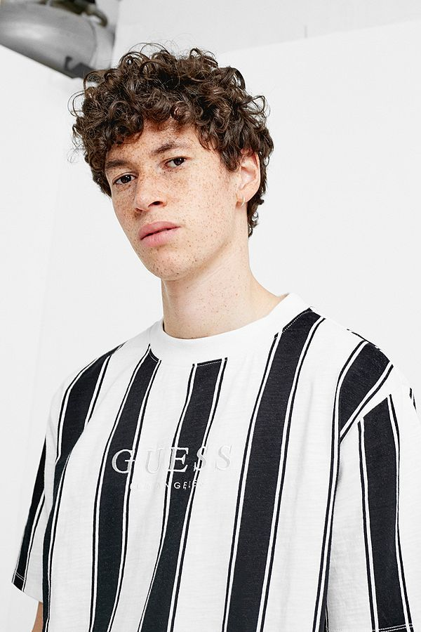 f65766ddef57 GUESS UO Exclusive Walden Black and White Stripe T-Shirt ...