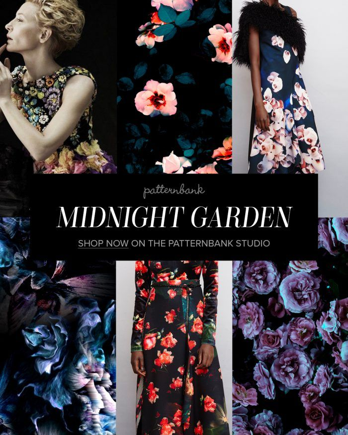 Midnight Garden Aw1718 Print Trend In Our Online Textile Design Studio Patternbank Print Trends Fashion Themes Fashion Forecasting