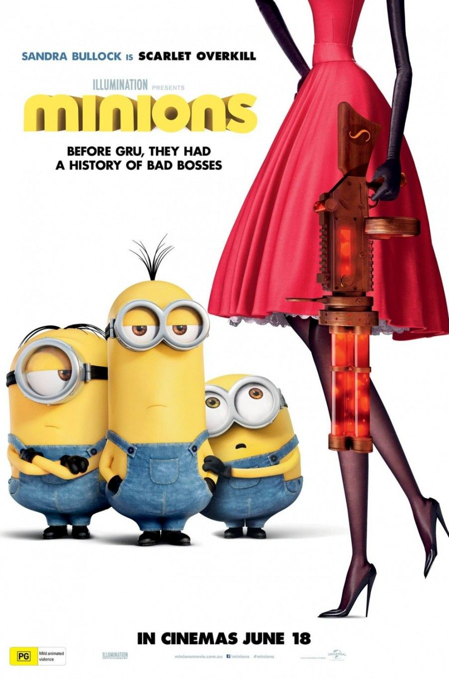 That Doesnt Look Like A Fart Gun Stuart Kevin And Bob With Scarlet Overkill From The Minions Movie