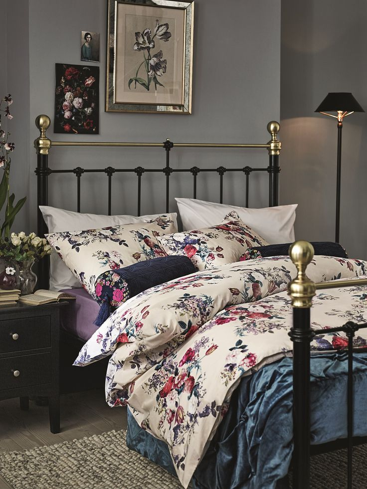 Inject a gorgeously floral bedding set to your Edwardian style bed ...