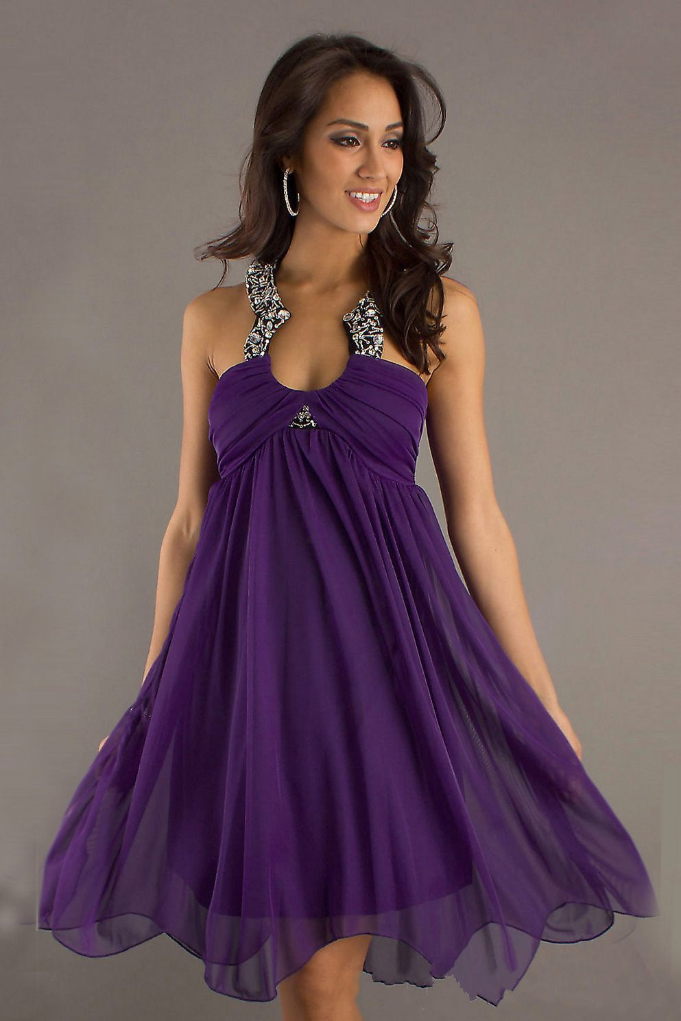 love the color | PURPLE!!!!! | Pinterest | Vestiditos, Vestidos de ...