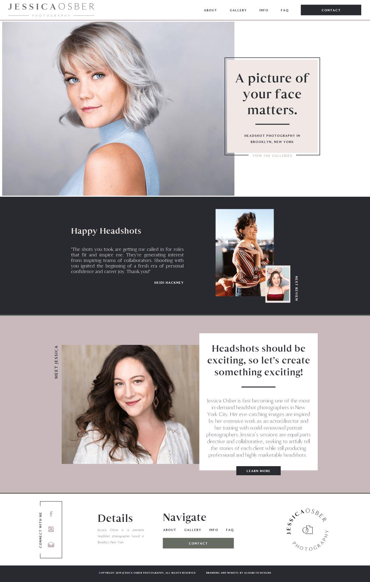 Headshot Photographer Logo Photographer Website Design Photographer Website Photographers Logo Design