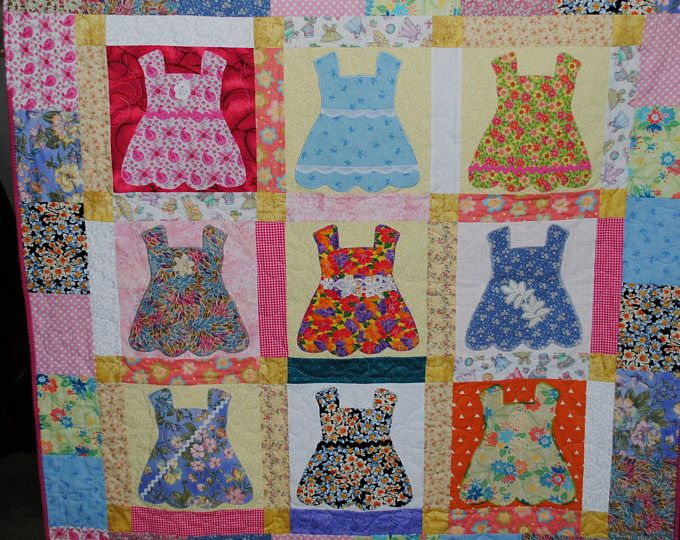 Quilt - Handmade doll dress quilt for that special little girl ... : doll dress quilt - Adamdwight.com