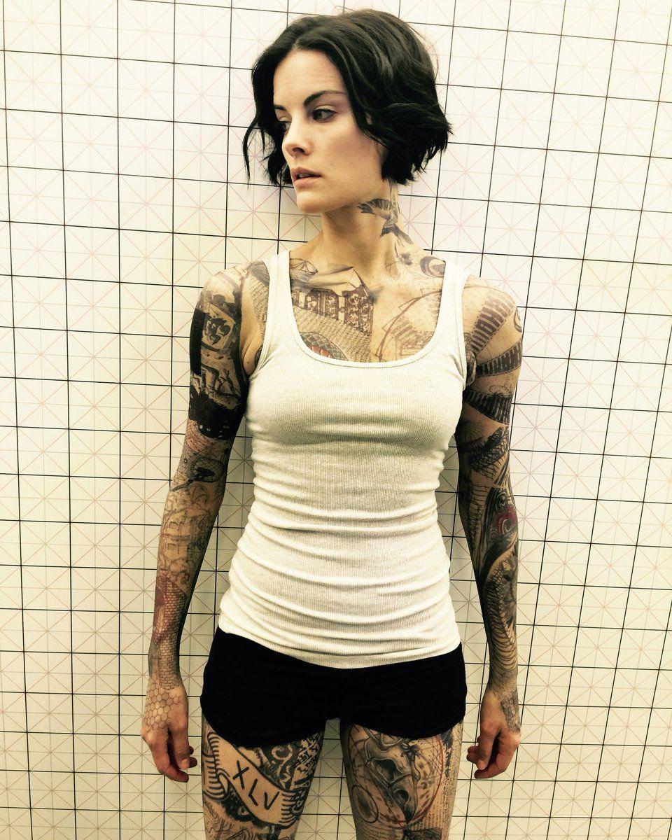 Jaimie Alexander, Chest Tattoos