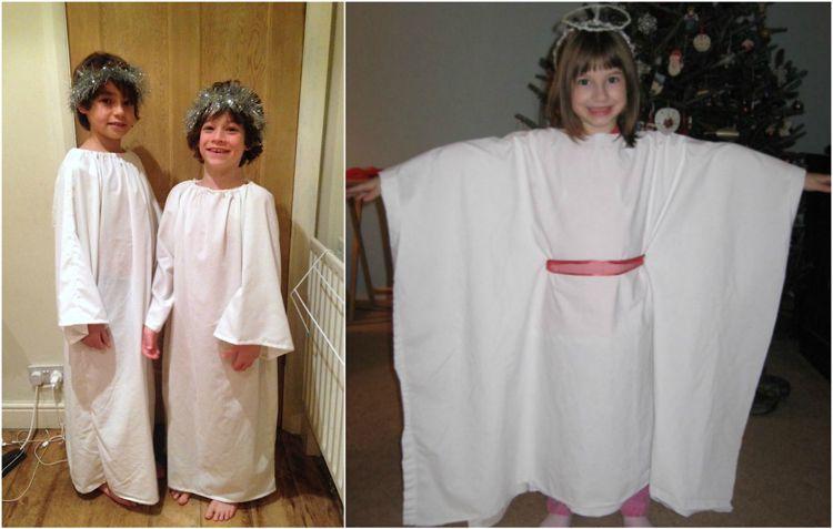 Kostume Selber Machen Engel Kinder Bettlaken Halloween Kostum Aus Bettlaken Kostum Engel Verkleidung Kinder