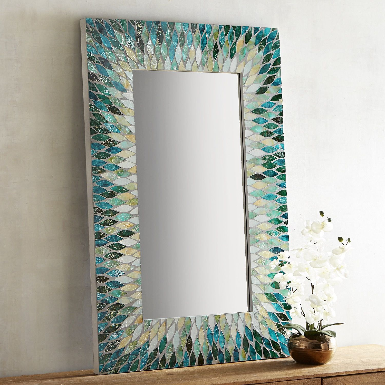 Cascade Mosaic 32x48 Mirror Mosaics Mosaic Mirrors And Craft