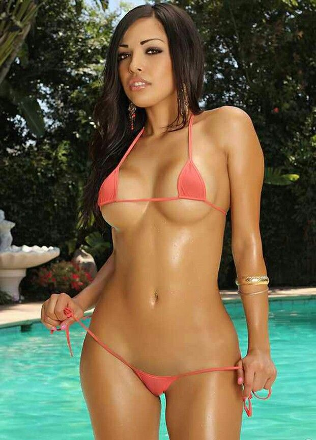 Latino girls in mico string bikinis