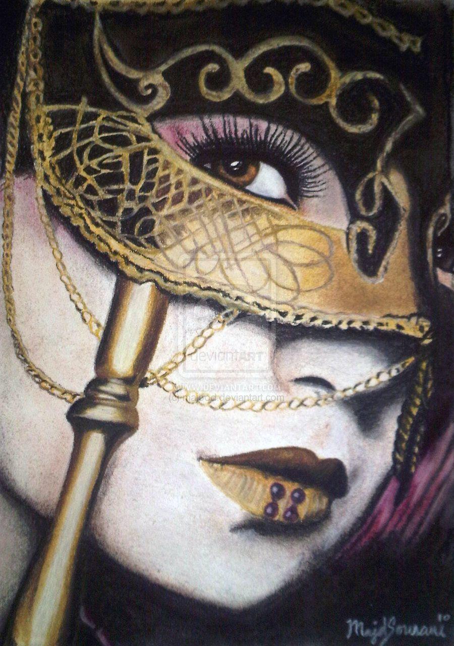 masquerade painting by ~majood on deviantART