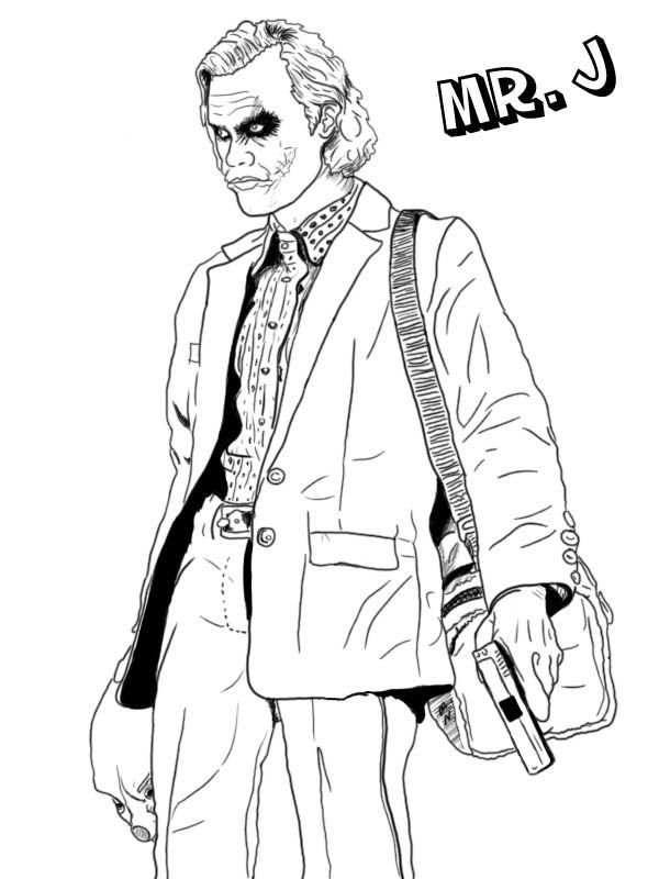 Joker Coloring Pages Adult Colouring Batman Coloring Pages