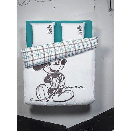 Belle parure housse de couette 2 personnes 240 x 220 cm Mickey Mouse