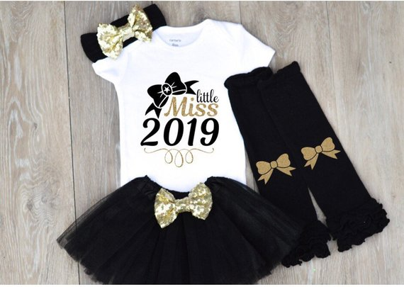 2d9d5dbcd6d8 Baby Girl New Years Eve Outfit Little Miss 2019 New Years Outfit Girl First  New Years Outfit 1st New