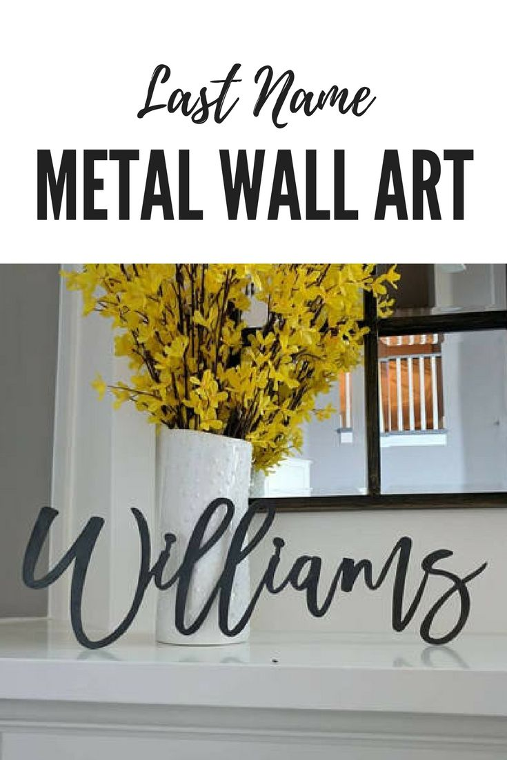 LOVE THIS!!! Custom Last Name, Metal Sign, Metal wall art, Custom ...