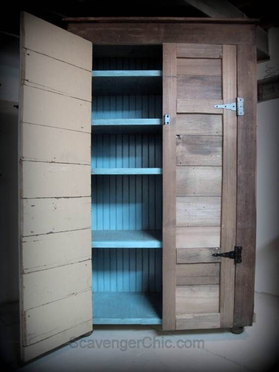 Perfect For The Basement, Just Add Some Bun Feet Or Casters. Learn How To  Build This 6 ½ Ft Rustic Country Cupboard / Jelly Cabinet/ Diy Furniture