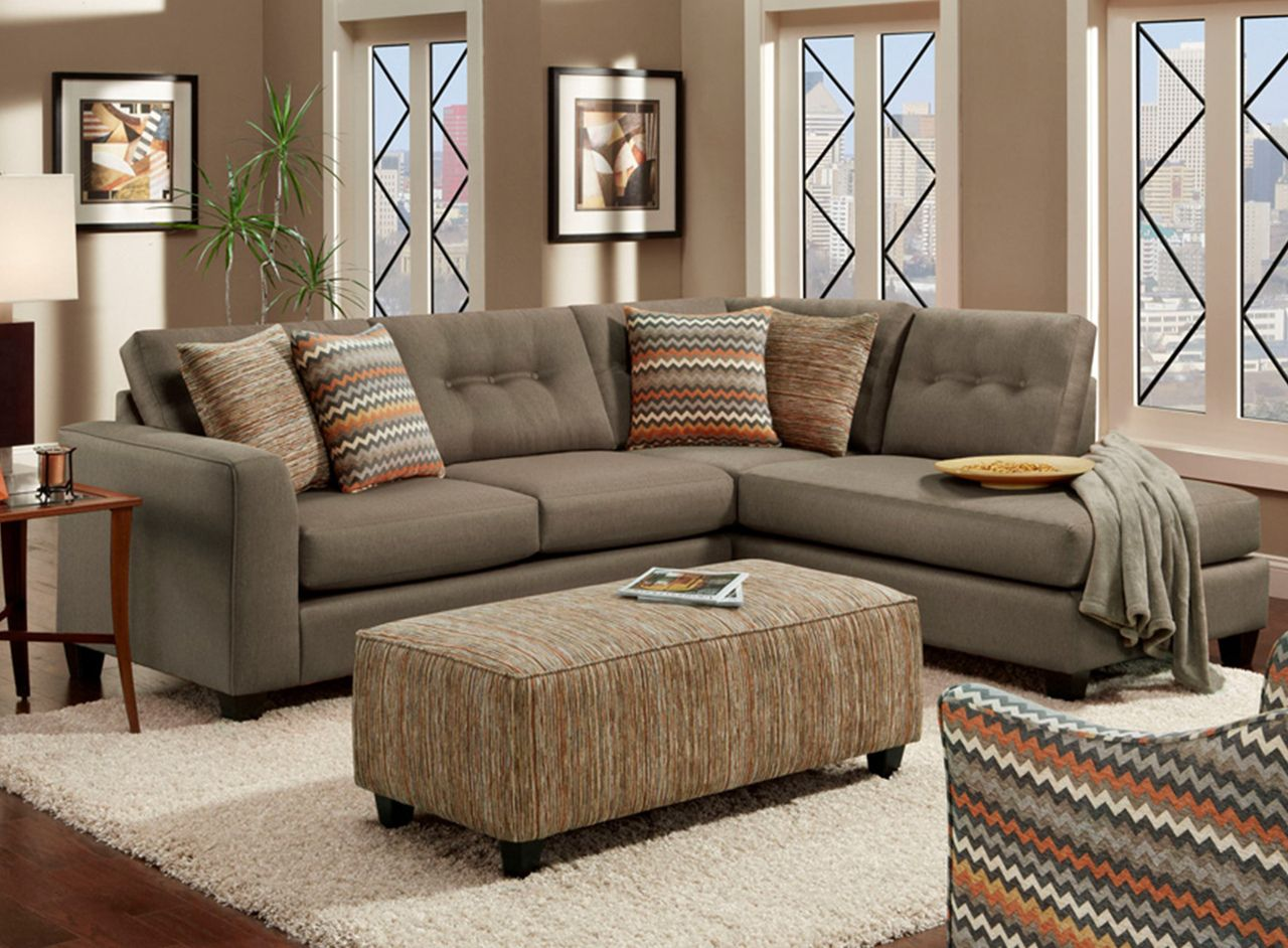 Fandango Mocha Sectional Living Room Set   Berrios Te Da Más
