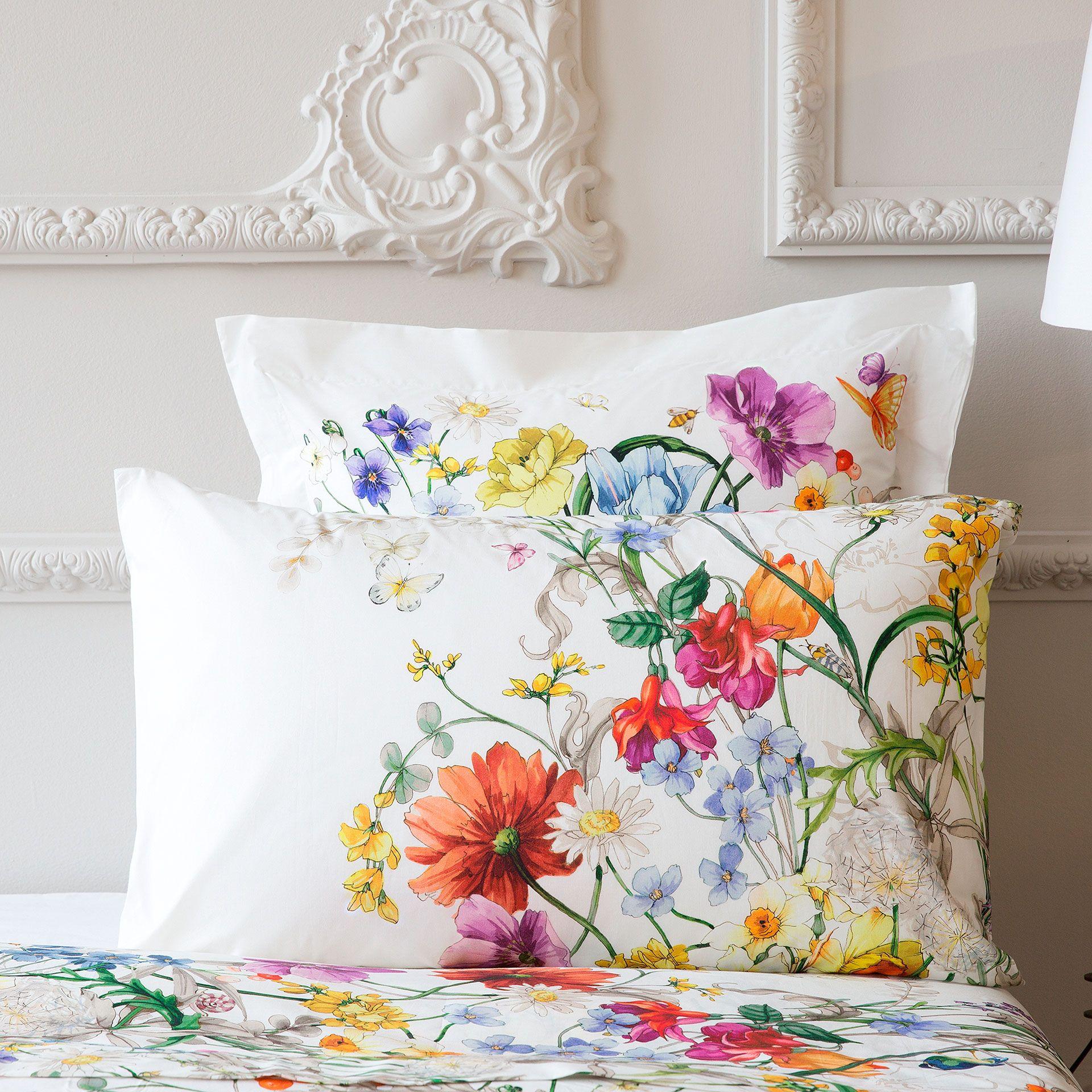 Multicolor Floral Print Percale Bedding Bedding