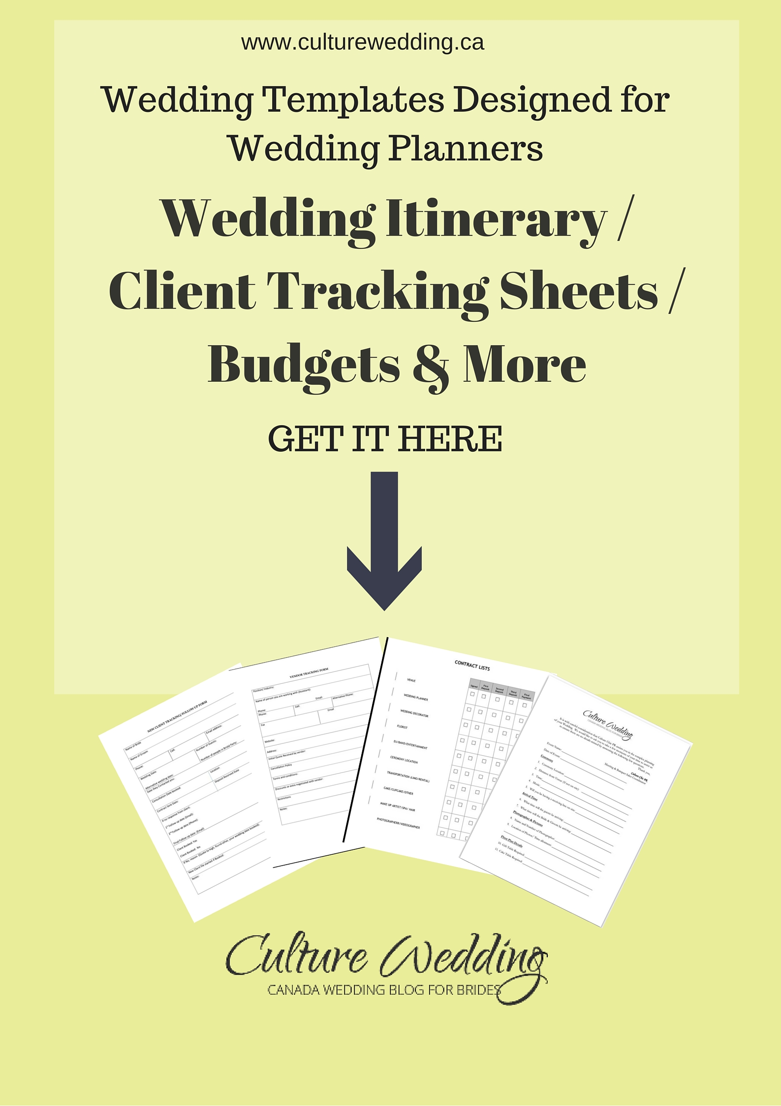 Wedding Templates To Use When Planning Your Clients Weddings We Have Included Budgets Client Forms And Tracking Get More Information On
