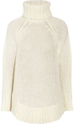 8ef4575d476a ShopStyle: MICHAEL Michael Kors Poncho-style open-knit sweater ...