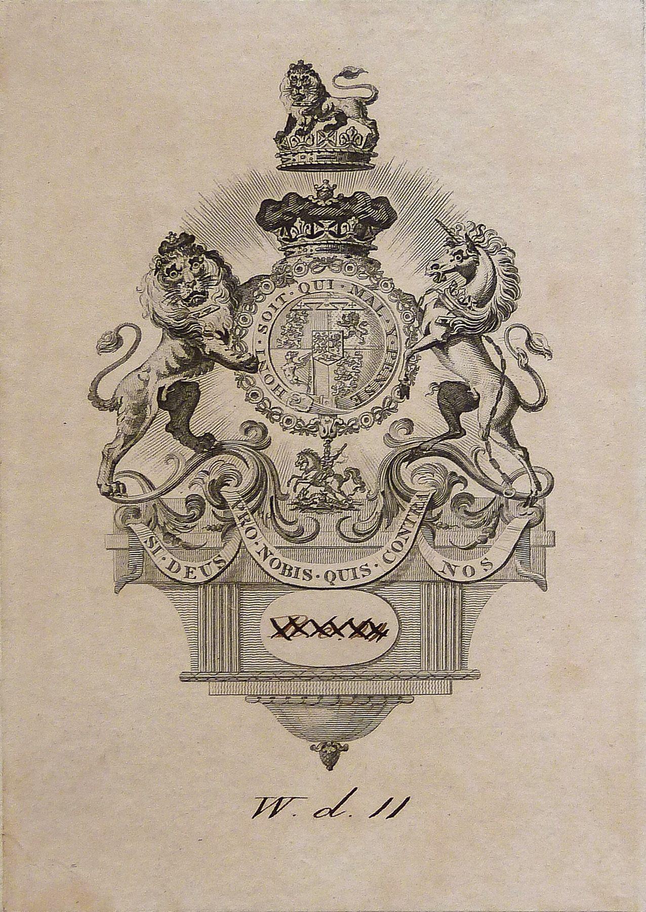Armorial bookplate of prince augustus frederick duke of