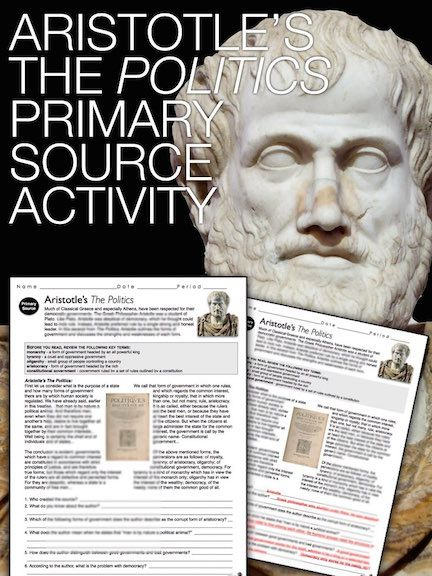 Aristotles Primary Source Worksheet Greece World History Tpt