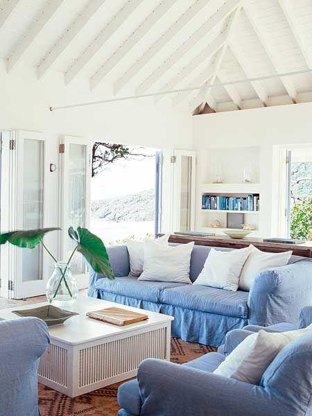 blue and white yazlik evler mobilya evler