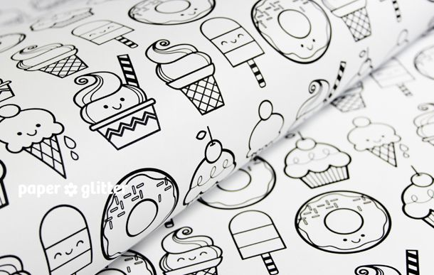 printable wrapping paper desserts creative inspiration printable wrapping paper gift. Black Bedroom Furniture Sets. Home Design Ideas
