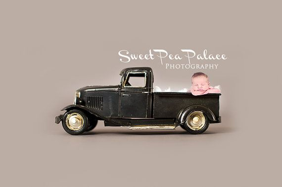 Instant Download Photography Prop --Black Pick-up Truck-- DIGITAL BACKDROP for Photographers #backdropsforphotographs