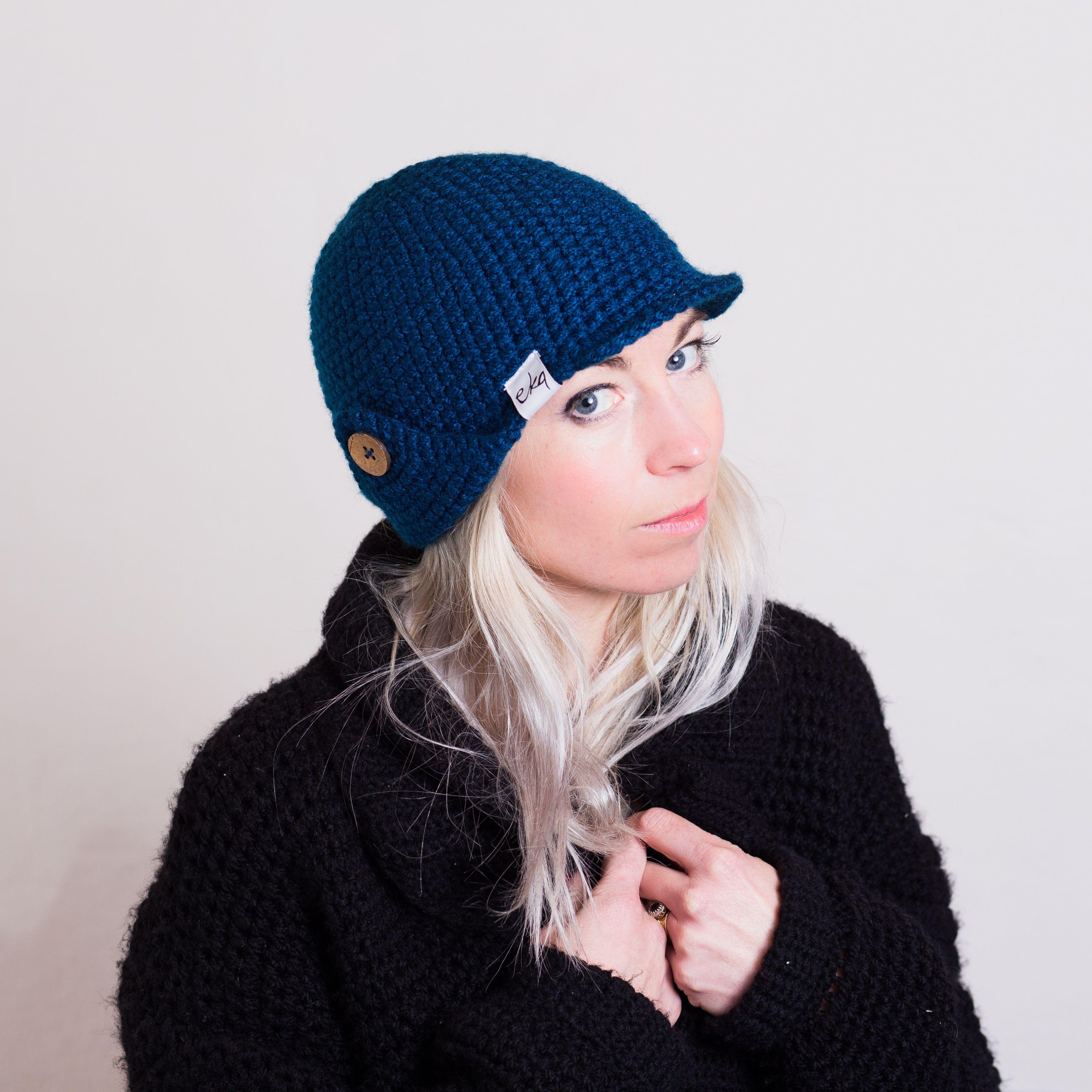 Handmade Crochet Deerstalker Hat