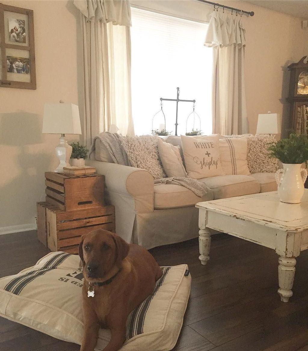 95 Modern Farmhouse Curtains for Living Room Decorating ... on Farmhouse Curtain Ideas For Living Room  id=35612