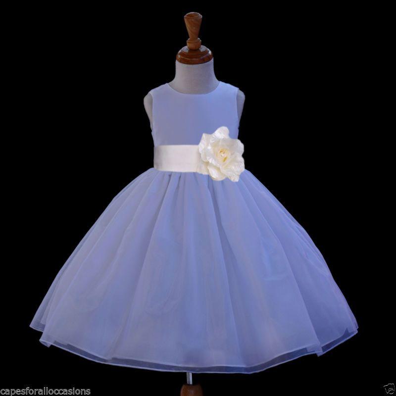 Increíble Niños Blancos Vestidos De Dama De Honor Regalo - Vestido ...