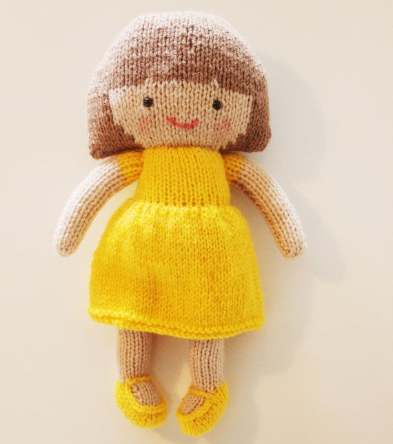 Saffron Doll Knitting Pattern Toy Rag Doll Pattern PDF   Knitting ...