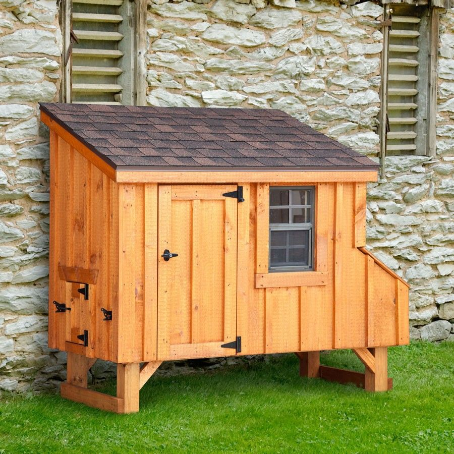Amish made 3w x 6l lean to chicken coop coops bird and for Chicken coop size for 6 chickens
