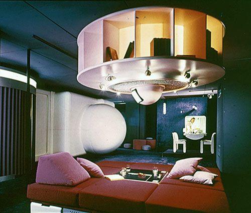 Wohnmodel 1969 By Joe Columbo Shown At The Visiona