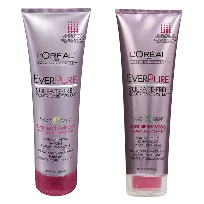 7 Set L Oreal Ever Pure Smooth Shampoo And Conditioner For Frizzy Color Treated