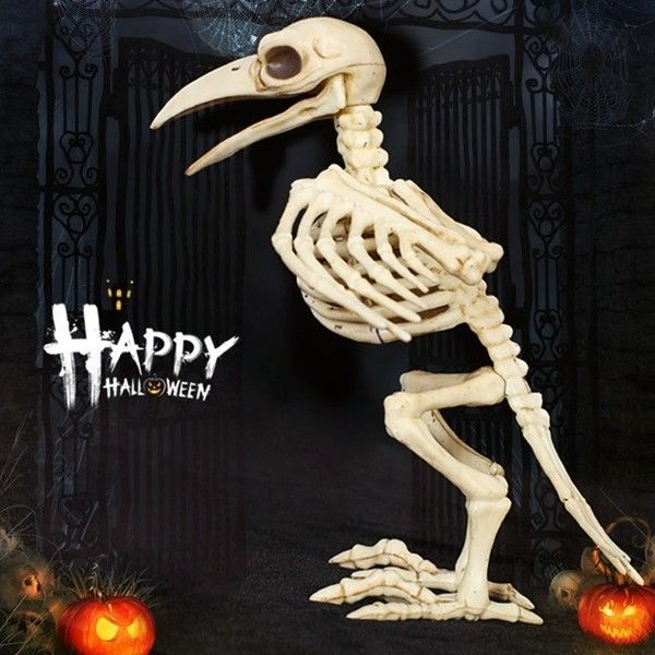 Halloween Bone Skeleton Raven Plastic Animal Skeleton Horror - halloween decorations skeletons