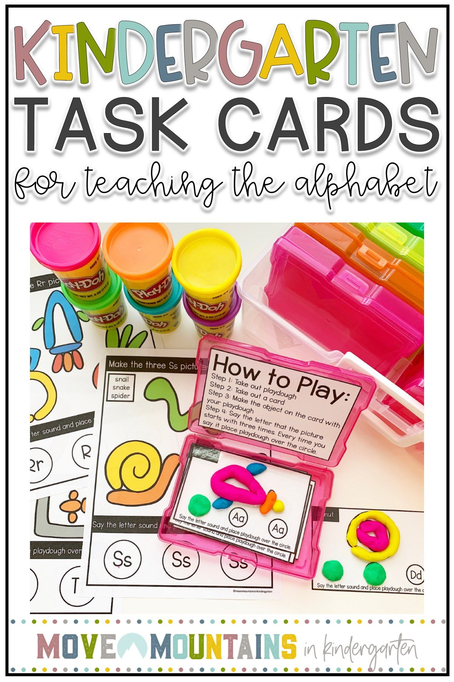 Alphabet Worksheets And Task Cards