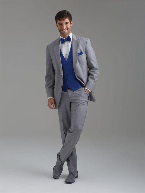 Click to Buy << Custom Made Mens Suits Groom Tuxedos Groomsmen ...