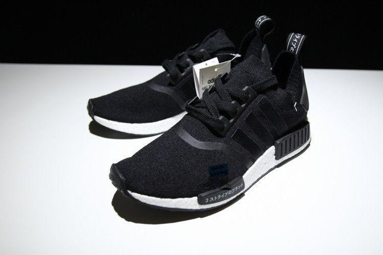Adidas NMD R1 primeknit Japón negro Boost s81850 zapatos de moda