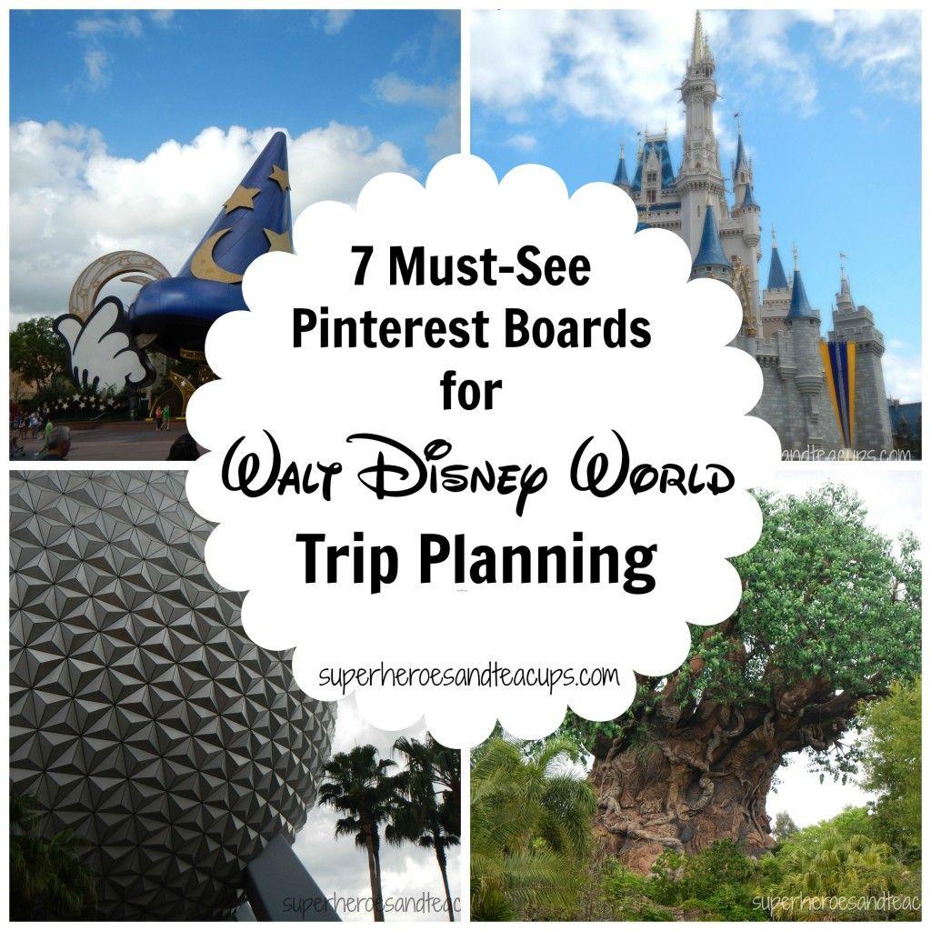 7 Must See Pinterest Boards for Walt Disney World Trip Planning