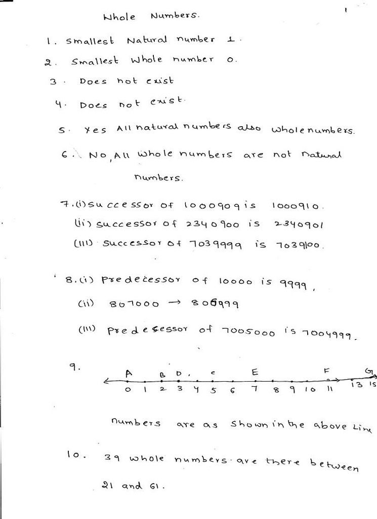 Rd Sharma Maths Solutions Class 6 Chapter 3 Whole Numbers Maths Solutions Math Class 6 Maths